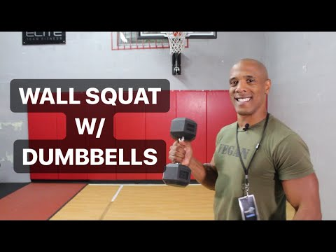 Dumbbell Wall Squat