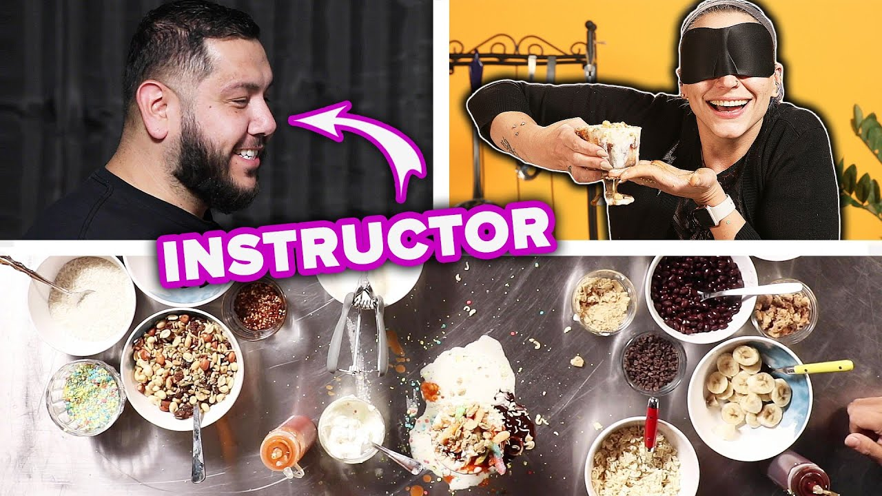 People Try To Make A Sundae While Blindfolded thumbnail