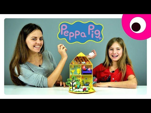 Игровой набор Peppa - ДОМ ПЕППЫ С ЛУЖАЙКОЙ