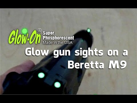 Glow-on paint for iron sights and older eyes