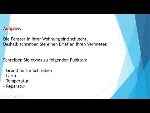 Deutsch B1 Prüfung Brief Schreiben Eine Entschuldigung Schreiben