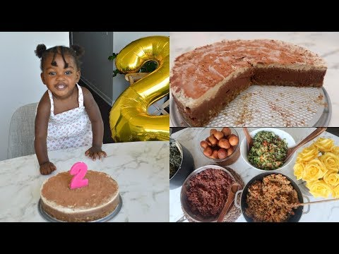CHELSEA's 2nd Birthday ! Best Raw Vegan Tiramisu Cake Recipe + African food