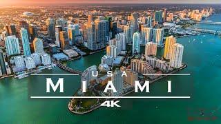 Miami, USA 🇺🇸 - by drone [4K]