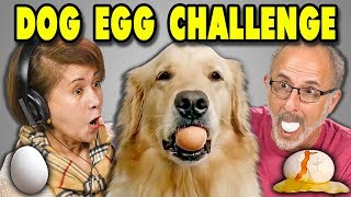 ELDERS REACT TO DOG EGG CHALLENGE?! (#EggChallenge)