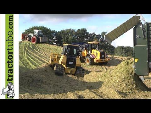 3 Lohnunternehmer häckseln für eine BGA - Silage - Mais 2013 - corn harvest 2013