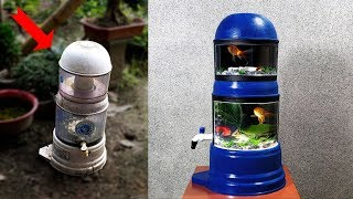 How to Recycle Damaged WATER FILTER into BEAUTIFUL AQUARIUM
