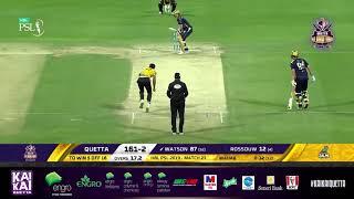 HBL PSL 2019 Match Highlights Peshawar Zalmi Vs Quetta Gladiators