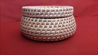 Плетение шкатулки спиральным плетением