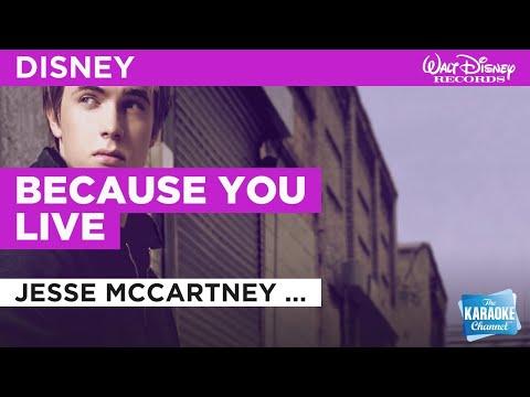 Because You Live : Jesse McCartney (Disney Original) | Karaoke with Lyrics