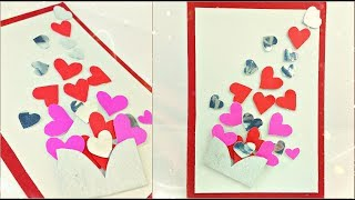 Valentines Day Gift Card Ideas Homemade For Boyfriend | Heart Card Tutorial Making Ideas