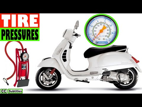 Vespa Tire Pressures - Vespa Tyre Pressures - Scooter Tyre Pressures