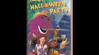 Opening & Closing To Barney's Halloween Party 1998 VHS