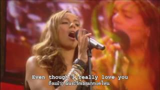 Leona Lewis - Better in Time live Nelson Mandela 90th - Lyrics Sub Thai - Eng (แปลเพลงสากล)