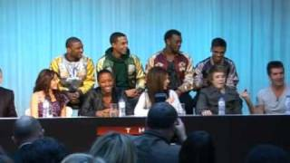 X Factor finalists JLS, Alexandra and Eoghan talk about the final