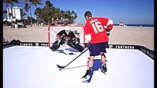 ALEKSANDER BARKOV VS. PAVEL BARBER | HockeyShot Shootout Challenge!
