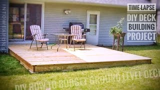 How To Build a Ground Level Deck in One Day!