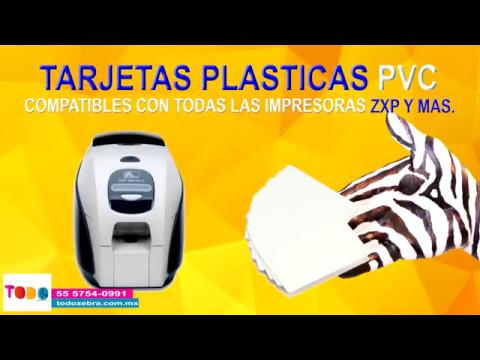 Tarjetas plasticas PVC zebra credenciales blancas 104523-111