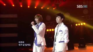 2AM - Can't let you go even if i die (2AM - 죽어도 못보내) @ SBS Inkigayo 인기가요 100307