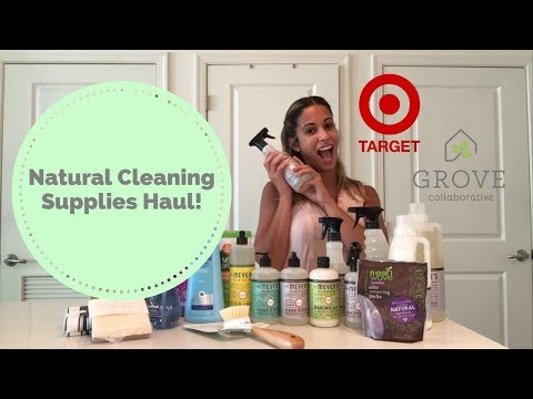 Natural Cleaning Supplies Haul + mini reviews | Target & Grove