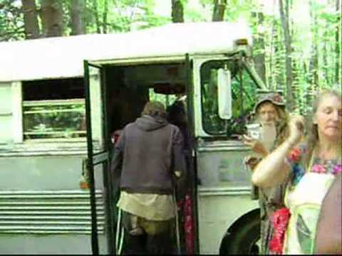 Grandpa Woodstock and Estar leaving 2010 national Rainbow gathering, Pa