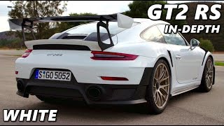 White Porsche 911 GT2 RS (2018) - Driving, Exterior, Interior