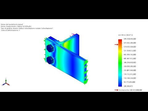 Tutorial Solidworks Analisi Statica Connessione con Bullone