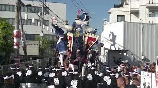 平成30年10月21日 八田荘地区だんじり祭り 大池パレード