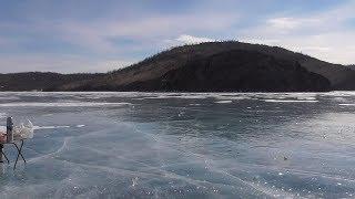 Зимняя рыбалка на малом море байкала