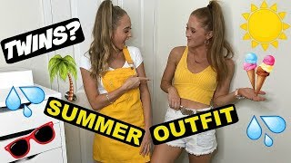 10 minute Fashion challenge | Teagan & Sam