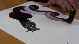 Japanese Dragon Painting At Nikko - Japan 3/3