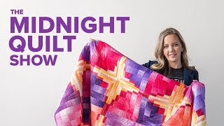 Curved Log Cabin Quilt | The Midnight Quilt Show With Angela Walters