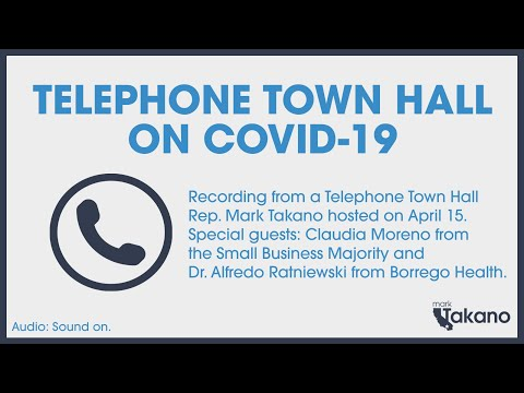 COVID-19 Rep. Takano Telephone Town Hall: April 15, 2020 Image