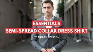 Semi-Spread Collar Dress Shirt - Men's Wardrobe Essentials - Collared