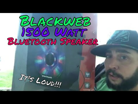Blackweb 1500 Watt BlueTooth Speaker Review