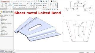 Solidworks sheet metal Lofted Bend
