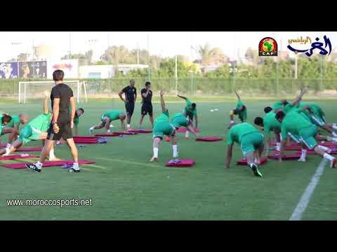 العرب اليوم - شاهد: الأسود يستأنفون التدريبات لمواجهة كوديفوار