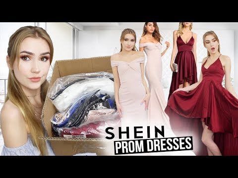 TRYING ON SHEIN PROM DRESSES!! *Success...kinda*
