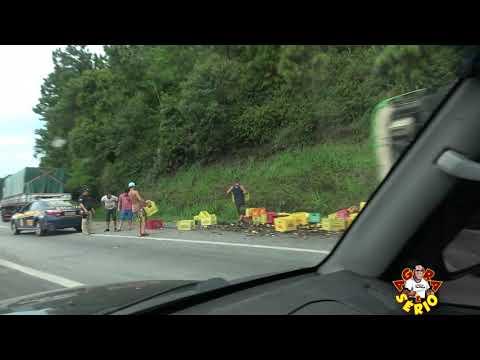 Acidente na Serra do Cafezal com a carreta de cerveja