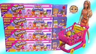 Barbie Shopping Cart of Shopkins Season 10 MEGA 20 Packs Surprise Blind Bags
