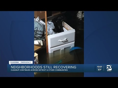 Neighborhoods still recovering after flooding from last week