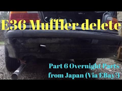 Budget E36 318IS drift car muffler delete and steering wheel install