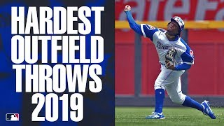 The Hardest Outfield Throws of 2019 | MLB Highlights