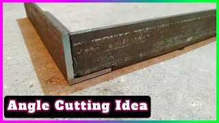 Cutting Angle at 90 degree | Metal Joint Iron Angle