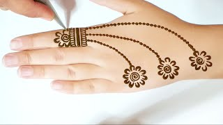 Most Beautiful And Easy Mehndi Designs For Front Hands - Simple Henna Designs
