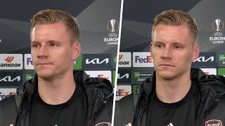 """""""It's very hard for all of us and the fans."""" Bernd Leno on a disappointing Europa League outcome"""