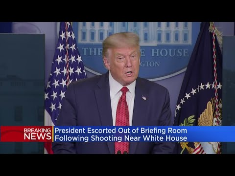 President Trump Says He Was Escorted Out Of COVID Briefing Because Of Shooting Near White House