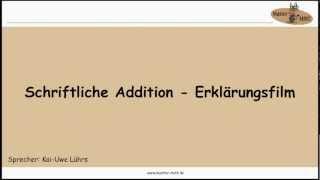 1.1.1 SCHRIFTLICHE ADDITION ERKLÄRUNGSFILM