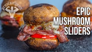 Epic Low Carb Mushroom Sliders / Sliders de Setas Bajo en Carbos