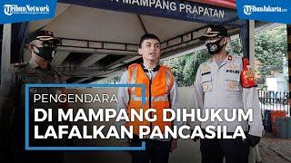 Tak Pakai Masker, Pengendara di Mampang Dihukum Lafalkan Pancasila
