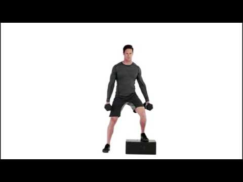 Crossover Dumbbell Step-Up